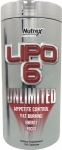 Nutrex Lipo 6 UNLIMITED   120 Liquid Capsules