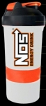 NOS ENERGY DRINK SMART SHAKER WITH SPRING BALL (27 OZ BIG)