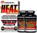 Magnum HEAT Accelerated 120 Capsule FREE 2 Units ACID Fat Incinerator Stack X 90 Solf Gel