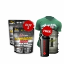 Combo Alphamass 17lbs Free Shaker + Free T-shirt + Free Water Container 2.2L