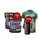 Combo PRO GAINER 1350 12lbs Free T-Shirt + Free Shaker + free Water Containers 2.2L