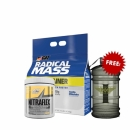 Radical Mass 10lbs + Nitraflex 30 servings Free Water Container 2.2L