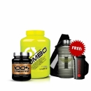 SCITEC JUMBO 4400 g + SCITEC CREATINE 300G Free Shaker + Free Water Containers 2.2L + Free Gym Bag