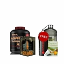 Whey Charger 100 220g + Grenade 100 caps Free Green Tea + Shaker + Water Containers 2.2L
