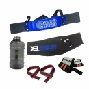 Combo Arm Blaster + Wrist strap + Lifting Strap + Water Container + Better Bodies