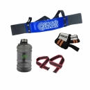 Combo Arm Blaster + Wrist strap + Lifting Strap + Water Container